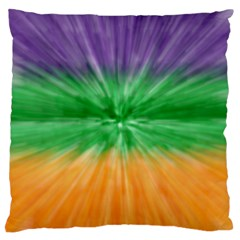 Mardi Gras Tie Die Large Cushion Case (two Sides) by PhotoNOLA