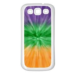 Mardi Gras Tie Die Samsung Galaxy S3 Back Case (white) by PhotoNOLA