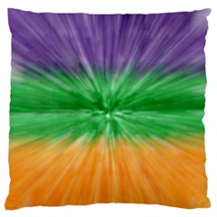 Mardi Gras Tie Die Standard Flano Cushion Case (two Sides) by PhotoNOLA