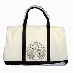 Bird Peacock Fan Animals Two Tone Tote Bag by Alisyart