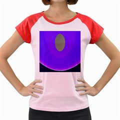 Ceiling Color Magenta Blue Lights Gray Green Purple Oculus Main Moon Light Night Wave Women s Cap Sleeve T Shirt