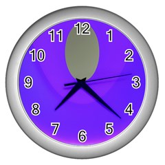 Ceiling Color Magenta Blue Lights Gray Green Purple Oculus Main Moon Light Night Wave Wall Clocks (silver)  by Alisyart