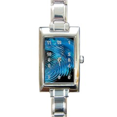 Waves Wave Water Blue Hole Black Rectangle Italian Charm Watch by Alisyart