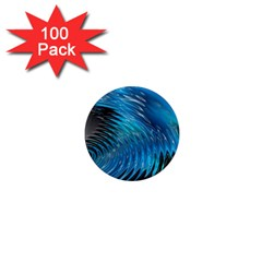Waves Wave Water Blue Hole Black 1  Mini Magnets (100 Pack)  by Alisyart