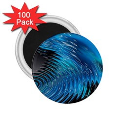 Waves Wave Water Blue Hole Black 2 25  Magnets (100 Pack)  by Alisyart