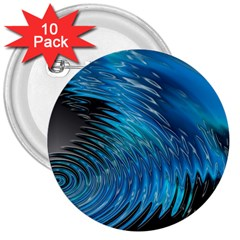 Waves Wave Water Blue Hole Black 3  Buttons (10 Pack)  by Alisyart