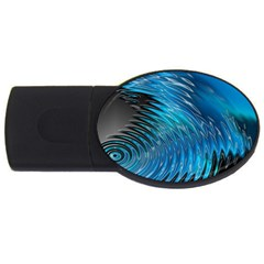 Waves Wave Water Blue Hole Black Usb Flash Drive Oval (2 Gb) by Alisyart