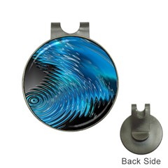 Waves Wave Water Blue Hole Black Hat Clips With Golf Markers by Alisyart