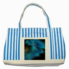 Waves Wave Water Blue Hole Black Striped Blue Tote Bag by Alisyart