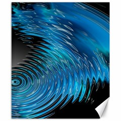 Waves Wave Water Blue Hole Black Canvas 8  X 10  by Alisyart