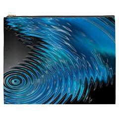 Waves Wave Water Blue Hole Black Cosmetic Bag (xxxl)  by Alisyart