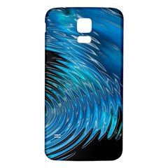 Waves Wave Water Blue Hole Black Samsung Galaxy S5 Back Case (white) by Alisyart