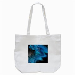 Waves Wave Water Blue Hole Black Tote Bag (white) by Alisyart