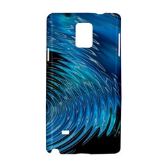 Waves Wave Water Blue Hole Black Samsung Galaxy Note 4 Hardshell Case by Alisyart