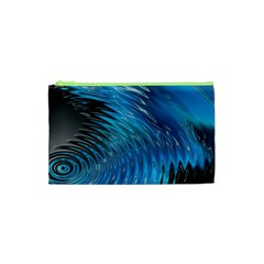Waves Wave Water Blue Hole Black Cosmetic Bag (xs) by Alisyart