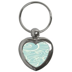 Blue Waves Key Chains (heart)  by Alisyart