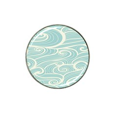 Blue Waves Hat Clip Ball Marker (4 Pack) by Alisyart