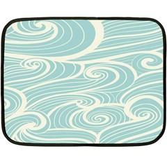 Blue Waves Double Sided Fleece Blanket (mini)  by Alisyart
