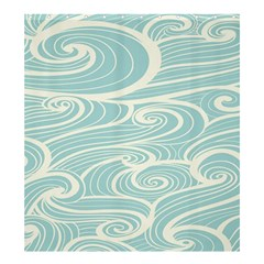 Blue Waves Shower Curtain 66  X 72  (large)  by Alisyart