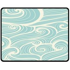 Blue Waves Fleece Blanket (medium)  by Alisyart