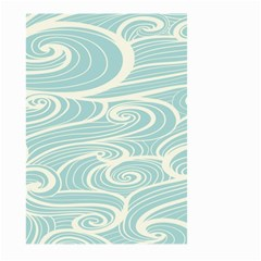 Blue Waves Large Garden Flag (two Sides) by Alisyart