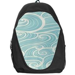 Blue Waves Backpack Bag by Alisyart
