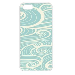 Blue Waves Apple Iphone 5 Seamless Case (white) by Alisyart