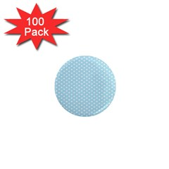 Circle Blue White 1  Mini Magnets (100 Pack)  by Alisyart