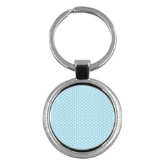 Circle Blue White Key Chains (round)  by Alisyart