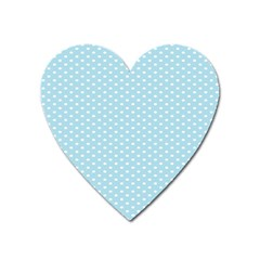 Circle Blue White Heart Magnet by Alisyart