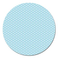 Circle Blue White Magnet 5  (round) by Alisyart