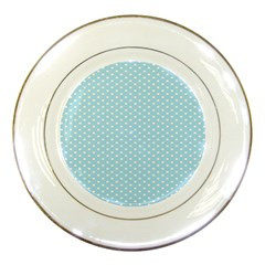 Circle Blue White Porcelain Plates by Alisyart