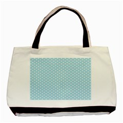 Circle Blue White Basic Tote Bag (two Sides) by Alisyart