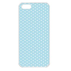 Circle Blue White Apple Iphone 5 Seamless Case (white) by Alisyart