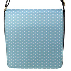Circle Blue White Flap Messenger Bag (s) by Alisyart