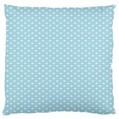 Circle Blue White Large Flano Cushion Case (two Sides) by Alisyart