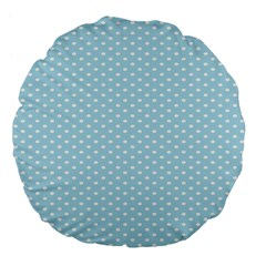 Circle Blue White Large 18  Premium Flano Round Cushions by Alisyart