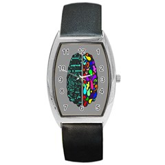 Emotional Rational Brain Barrel Style Metal Watch by Alisyart