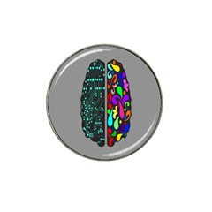 Emotional Rational Brain Hat Clip Ball Marker (10 Pack) by Alisyart