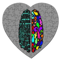 Emotional Rational Brain Jigsaw Puzzle (heart) by Alisyart