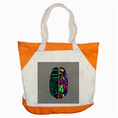 Emotional Rational Brain Accent Tote Bag by Alisyart