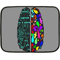 Emotional Rational Brain Fleece Blanket (mini) by Alisyart