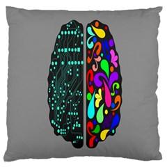 Emotional Rational Brain Large Cushion Case (two Sides) by Alisyart