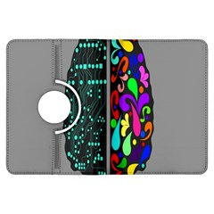 Emotional Rational Brain Kindle Fire Hdx Flip 360 Case by Alisyart