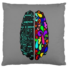 Emotional Rational Brain Standard Flano Cushion Case (two Sides) by Alisyart