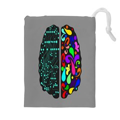 Emotional Rational Brain Drawstring Pouches (extra Large) by Alisyart