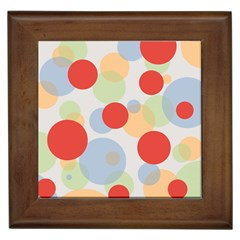 Contrast Analogous Colour Circle Red Green Orange Framed Tiles by Alisyart