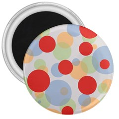 Contrast Analogous Colour Circle Red Green Orange 3  Magnets by Alisyart