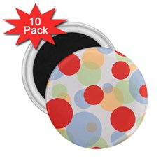 Contrast Analogous Colour Circle Red Green Orange 2 25  Magnets (10 Pack)  by Alisyart