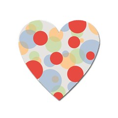 Contrast Analogous Colour Circle Red Green Orange Heart Magnet by Alisyart